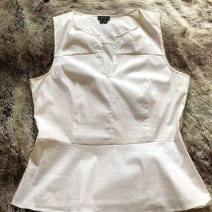 Theory sleeveless white top L